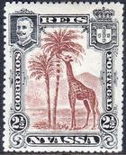 Nyassa Company 1901 D. Carlos I (Giraffe and Camels) a
