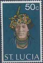 St Lucia 1973 Women's Headdresses d