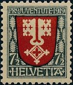 Switzerland 1919 PRO JUVENTUTE - Coat of Arms a