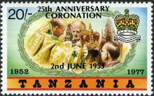 Tanzania 1978 25th Anniversary of Coronation of Queen Elizabeth II d