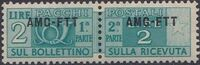 Trieste-Zone A 1951 Parcel Post Stamps of Italy 1946-54 Overprint a