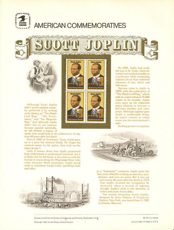 United States of America 1983 Black Heritage Series - Scott Joplin (1868-1917) ACa