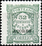 Azores 1924 Postage Due Stamps of Portugal Overprinted (3rd Group) f