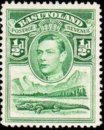Basutoland 1938 George VI, Crocodile and River Scene a