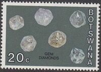 Botswana 1974 Rocks and Minerals i
