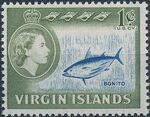 British Virgin Islands 1964 Queen Elizabeth II and Views a