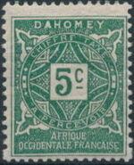 Dahomey 1914 Numerals a