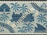 French Somali Coast 1943 Locomotive and Palms
