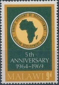 Malawi 1969 Anniversary of African Development Bank b