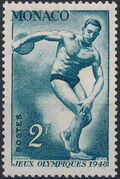 Monaco 1948 Summer Olympics, London - Regular Stamps c