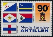 Netherlands Antilles 1995 Flags and Coats of Arms of Island Territories f