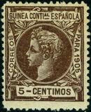 Spanish Guinea 1905 Alfonso XIII e