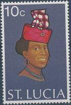 St Lucia 1973 Women's Headdresses b