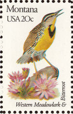 United States of America 1982 State birds and flowers x1