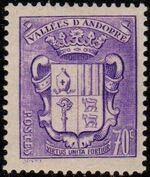 Andorra-French 1942 Coat of arms of Andorra e