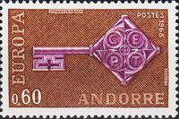 Andorra-French 1968 Europa b