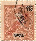 Angola 1914 D. Carlos I Overprinted f