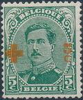 Belgium 1918 King Albert I (Red Cross Charity) c