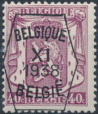 Belgium 1938 Coat of Arms - Precancel (11th Group) e