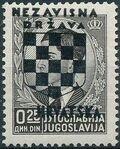 Croatia 1941 Peter II of Yugoslavia Overprinted in Black a