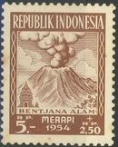 Indonesia 1954 Surtax for Victims of the Merapi Volcano Eruption h