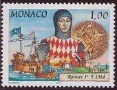 Monaco 1997 700th Anniversary of the Grimaldi Dynasty - 1st Serie b