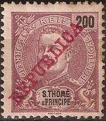 St Thomas and Prince 1911 D. Carlos I Overprinted l
