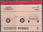 Tuvalu-Funafuti 1984 Leaders of the World - Auto 100 (1st Group) e