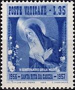 Vatican City 1956 500th Death Anniversary of St. Rita of Cascia c