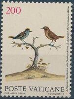 Vatican City 1989 Birds from Eleazar Albin Engravings c