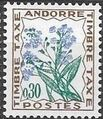 Andorra-French 1964 Flowers - 1st Group (Postage Due Stamps) b.jpg