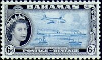 Bahamas 1954 Queen Elisabeth II and Landscapes Issue h