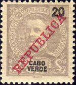 Cape Verde 1911 D. Carlos I Overprinted e