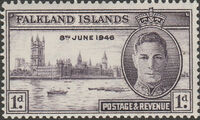 Falkland Islands 1946 Peace Issue a