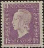 France 1945 Marianne de Dulac (2nd Issue) h