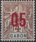 Gabon 1912 Navigation and Commerce Surcharged b