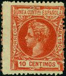 Spanish Guinea 1905 Alfonso XIII f