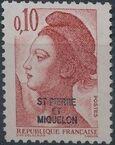 St Pierre et Miquelon 1986 Liberty from France Overprinted ST-PIERRE ET MIQUELON b