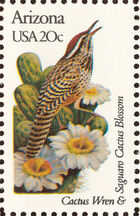 United States of America 1982 State birds and flowers c