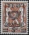 Belgium 1949 Coat of Arms, Precanceled and Surcharged b.jpg
