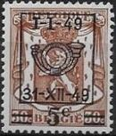 Belgium 1949 Coat of Arms, Precanceled and Surcharged b