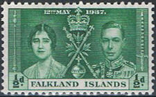 Falkland Islands 1937 George VI Coronation a
