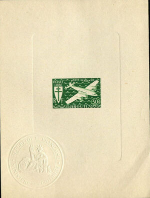 French Somali Coast 1941 Airmail m