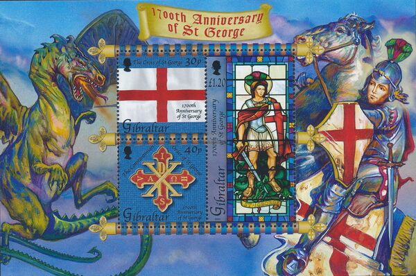 Gibraltar 2003 1700th Anniversary of St. George k