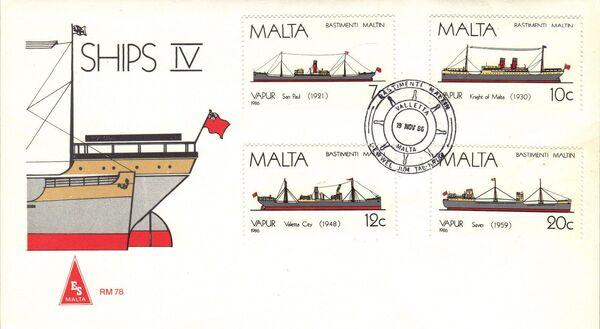 Malta 1986 Maltese Ships (4th Series) FDCa