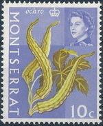 Montserrat 1965 Fruit & Vegetables and Portrait of Queen Elizabeth II h