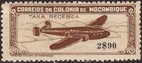 Mozambique 1946 Airplane over Mountainous Region d