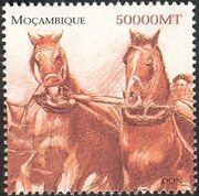 Mozambique 2002 The Wonderful World of Horses g