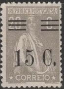 Portugal 1928 Ceres Surcharged i
