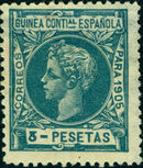 Spanish Guinea 1905 Alfonso XIII m